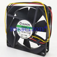 For SUNON KDE1208PKV3 MS.AF.GN 8020 DC12V 0.8W 80x80x20mm 3Pin Cooling Fan