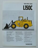 VOLVO Wheel Loader L150C 1996 dealer brochure catalog - English - USA