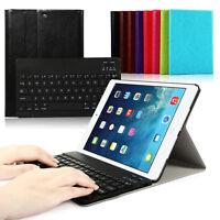 Für Apple ipad air 1 QWERTZ Tastatur Schutzfolie Tasche smart Cover Hülle