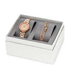 FOSSIL BLANE THREE HAND ROSE GOLD STAINLESS STEEL WATCH Bracelet Set ES4337SET