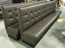 COMMERCIAL RESTAURANT BOOTH FURNITURE -WALL BENCH IN BUTTON BACK STYLE