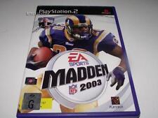 Madden 2003 NFL PS2 PAL Preloved *Complete*