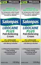 Salonpas Lidocaine Plus Cream 3 oz (2 Pack)