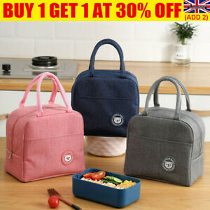 Lunch Bag Insulated Cool Thermal Food Storage Box Tote Carry For Adults Kids UK