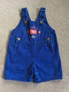 Preowned Vintage Baby B'gosh Oshkosh Vestbak Overall Shorts Blue Size 3/6 Months