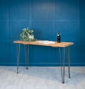 Desk Rustic Reclaimed Scaffold Wood [With Hairpin Legs] Office - Small