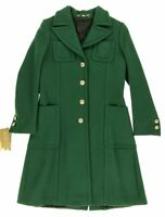 GUCCI Runway Womens Green Cashemere Embroidered Detail Coat Sz IT 40 US 4 $3443