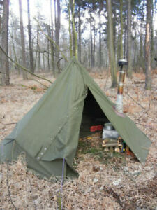 Two Polish poncho lavvu Size III - this is a Teepee Tent also in winter