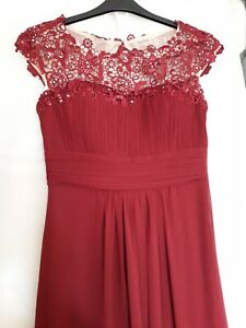 Full length Burgandy bridesmaid dress size 10