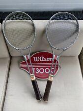 Vintage Wilson T3000 tennis racquet set of 2 LOOK!