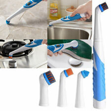4 in 1 Sonic Scrubber Electric Cleaning Brush House Help Kitchen Bathroom Car