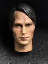 """1/6 Scale Hannibal Mads Mikkelsen Head Sculpt For 12"""" Male Toys"""
