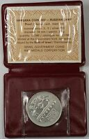 1972 Israel 5 Lirot Silver Proof Hanukka Russian Lamp Commem Coin with Holder