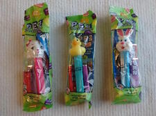 Set of 3 Pez Easter Figures - Easter Bunny  Duck  Lamb Ready for Easter