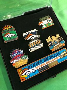 M236 NFL Denver Broncos Super Bowl XXXIII Collector's Pin Set 1999 Limited Ed.