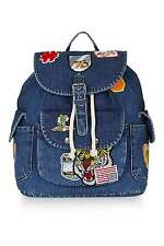 TOPSHOP Denim Badge Backpack Brand new with tags  RRP  £30