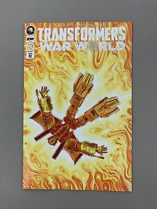 Transformers War World #27 1:10 RI Retailer Incentive Variant IDW 2021