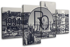 Rome Typography City MULTI DOEK WALL ART foto afdrukken