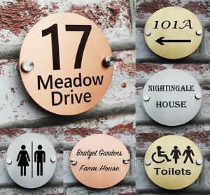 11 cm House Metal Sign Plaques Door Number Personalised Plate-Laser Engraving