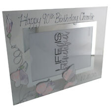 Personalised 90th Birthday Photo Frame: Sweet Pea Landscape
