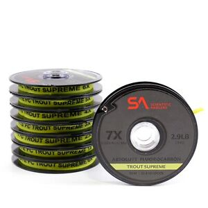 Scientific Anglers Absolute Fluorocarbon Trout Supreme Tippet - FREE SHIPPING
