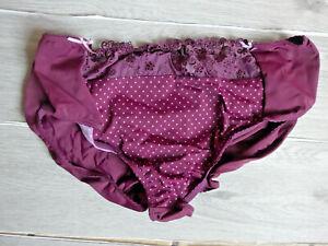 Nuance Damen Slip Unterhose Panty Gr. 56/58 Lila Ton Spitze (579) Übergröße NEU