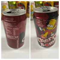 Collectible Can Of Bart Simpson Cherry Bomb 1998 Cherry Soda UK Novelty EMPTY