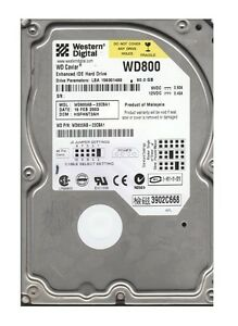 "Western Digital WD800AB - 22CBA1 80Gb 3.5"" Internal IDE PATA Hard Drive"