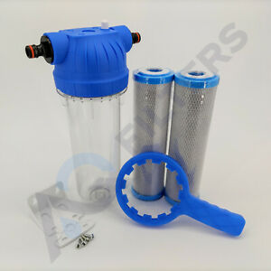 Koi Pond Water Filter For Fish Pond Chlorine Removal Dechlorinator 2 x Filters