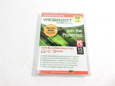 WEBROOT Secure Anywhere Internet Security Software New