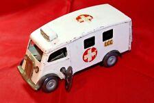 """Vintage Tri-ang Minic  No.75M """"WADHAMS """" London County Council Ambulance."""