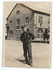 1921 Photo of Fireman w/ Badge Mare Island Fire Department CA