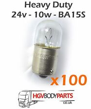 24v 10W Bulbs R10W T16 283 BA15S x100 for Commercial Vehicles