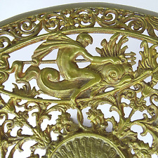 Antik Tafelaufsatz Bronze Götter Fauna Flora Victorian Gilt Tazza France 19. Jh.