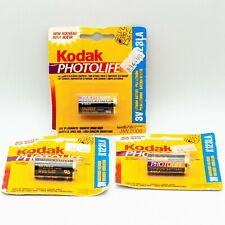 Lot of 3 Kodak Photolife Lithium Battery K123LA 3V 2 Expired 2009