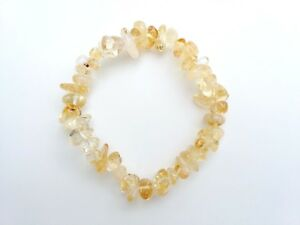 Citrine A Grade Crystal Chip Bracelet - Reiki Charged - Abundance