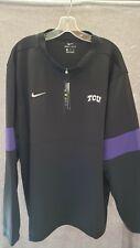 NWT Nike Therma DRI-FIT Quarter Zip TCU Black On Field Apparel Men's 3XL