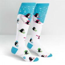 SOCK IT TO ME KNEE HIGH SOCKS - DOWNHILL PENGUINS