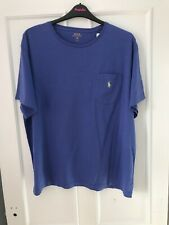 Mens Authentic Polo Ralph Lauren Liberty Blue Tshirt, Size 1XB New With Tags