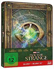 DOCTOR STRANGE (Benedict Cumberbatch) Blu-ray 3D + Blu-ray Disc, Steelbook NEU