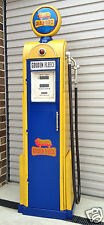 GOLDEN FLEECE GAS PUMP BOWSER GARAGE SHED PETROL 1960's SIGN LIGHT & TOOL BOX