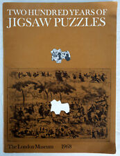 Two Hundred Years of Jigsaw Puzzles Linda Hannas 1968 London Museum PB