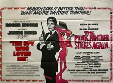 The Spy Who Loved Me The Pink Panther Original DB Quad Poster 1980 Moore Sellers