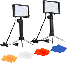 60 LED Continuous Portable Photography Lighting Kit Photo Video Studio Lamp NEW