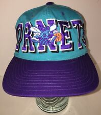 Vintage 90s Charlotte Hornets Mascot SPELLOUT Hat Cap Snapback NBA Licensed