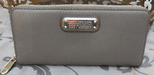 MARC JACOBS ~Leather CLASSIC Q Large Zip Around Wallet ~GREY~ALUMINUM~ NWT $198