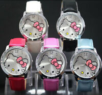 Fashion Jewelry Hello Kitty Children Girls Quartz Watch W2B
