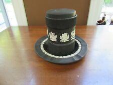 2 pcs Black Wedgwood Jasperware Humidor Tobacco Jar w/lid & Ashtray