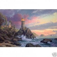 Thomas Kinkade ROCK OF SALVATION 24X36 PP CNV *ALSO GET A FREE LIMITED EDITION
