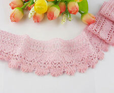 "(5cm )2""*3yard pink delicate cotton Crochet lace trim  Wedding Sewing"